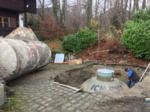 Einbau eines Heizölerdtanks in Brannenburg, Oberbayern