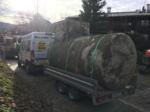Abtransport und Entsorgung eines alten Stahlerdtanks durch Tankbau Willberger
